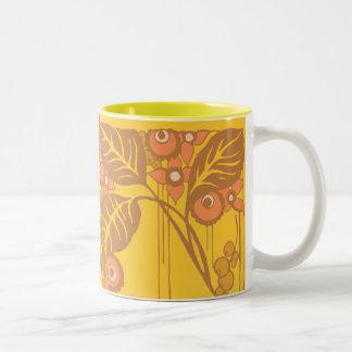 Sunny Leaves Two-Tone Coffee Mug