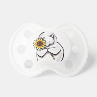 Sunny Manatee Off-Leash Art™ Baby Pacifier