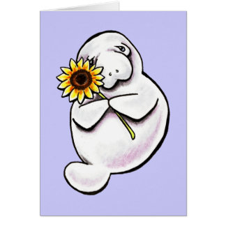 Sunny Manatee Off-Leash Art™ Card