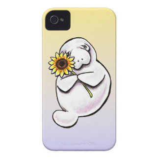Sunny Manatee Off-Leash Art™ Case-Mate iPhone 4 Cases