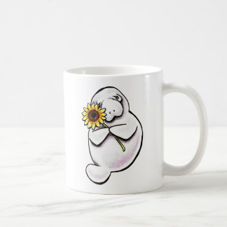 Sunny Manatee Off-Leash Art™ Coffee Mug