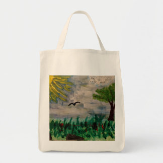 Sunny Meadow Painting Tote Bag