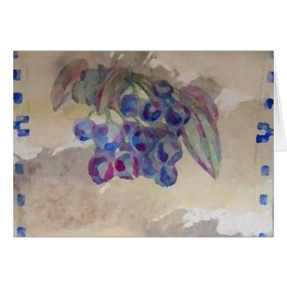 Sunny Morning Blueberries Kitchen Cooking Foods Card