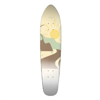 Sunny Mountain Custom Skateboard Deck