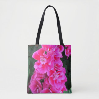 Sunny or Cloudy Spring Flower Tote