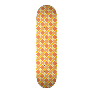 Sunny orange background retro skateboard decks
