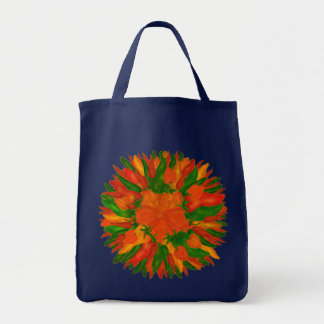 Sunny Peppers Grocery Tote Bag