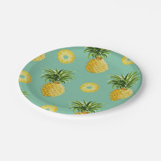 Sunny Pineapple Paper Plates