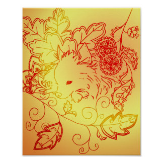 Sunny Pomeranian Poster Print