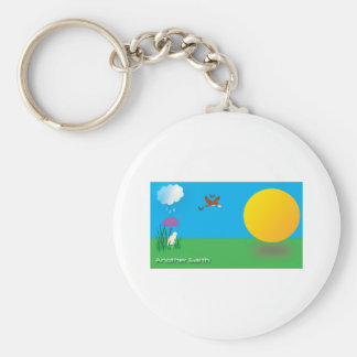 Sunny-Rainy Day Basic Round Button Keychain