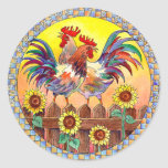 SUNNY ROOSTERS by SHARON SHARPE Stickers