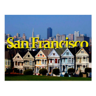 Sunny San Francisco w/ San Francisco in the Sky Postcard