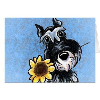 Sunny Schnauzer Blue Sky Custom Card