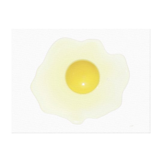 Sunny Side Up Vector Egg Canvas Print