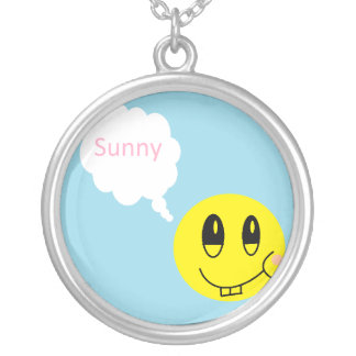 Sunny Silver Plated Necklace