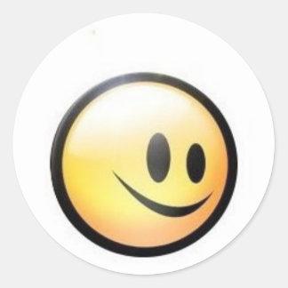 sunny smilie - customizable round sticker