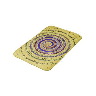 Sunny Snail. Concentric Circles Star Design Bath Mat