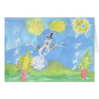 Sunny Snowman - Customizable Card
