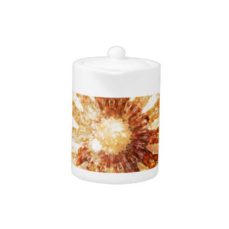 Sunny Star Flower Warm Brown Orange Colors