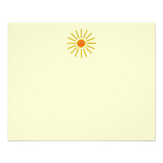 Sunny Summer Sun. Yellow on Cream. Flyer