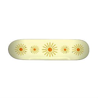 Sunny Summer Sun Yellow on Cream Skateboard Decks