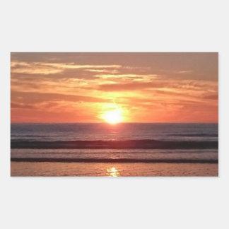 Sunny summer sunset beautiful orange sky sticker