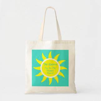 Sunny Sun Happy Place Custom Beach River Lake Tote Bag
