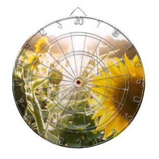 Sunny Sunflower Field Dartboard