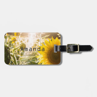 Sunny Sunflower Field Luggage Tag