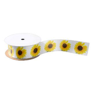 Sunny Sunflower Ribbon Satin Ribbon