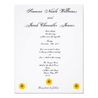 Sunny Sunflower Wedding Invitation
