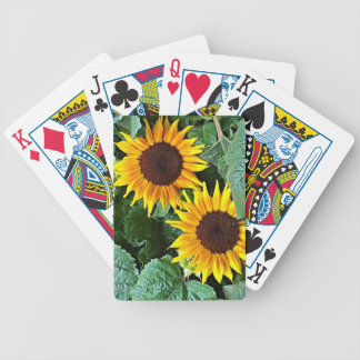 Sunny Sunflowers Bicycle Playing Cards
