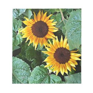 Sunny Sunflowers Notepad