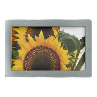 Sunny Sunflowers Rectangular Belt Buckle
