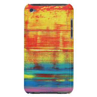Sunny Sunset Colorful Abstract Art Barely There iPod Cases