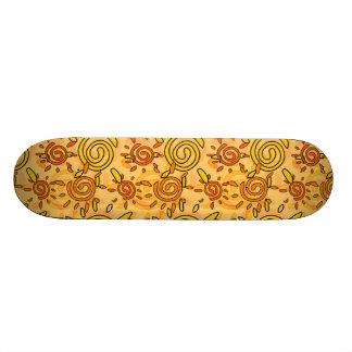 Sunny Swirl Pattern; Sun Skate Deck
