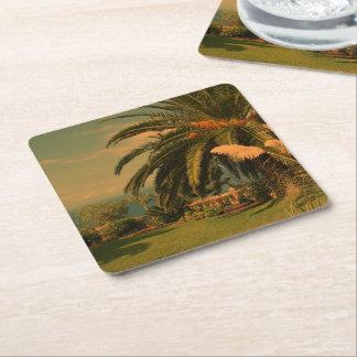 sunny Tenerife 2 Square Paper Coaster