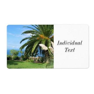 sunny Tenerife Shipping Label