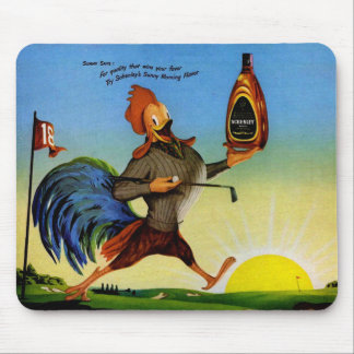 Sunny the Schenley rooster on the golf course Mouse Pad