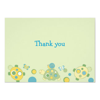 Sunny Turtle Neutral Thank You Note Cards