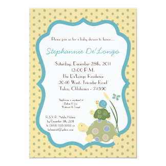 Sunny Turtle Sea Life Snail Baby Shower Invitation