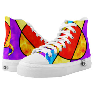 Sunny  violet  red  high top shoes