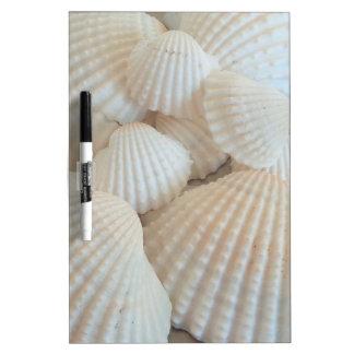 Sunny White Seashells, Summer Beach Exotic Dry-Erase Whiteboards