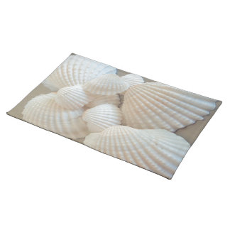 Sunny White Seashells, Summer Beach Exotic Placemat