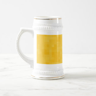 Sunny Yellow Abstract Design. 18 Oz Beer Stein