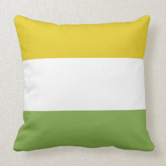 Sunny Yellow and Spring Green Throw Pillow