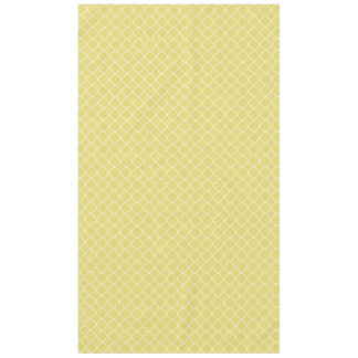 Sunny Yellow and White Quatrefoil Tablecloth