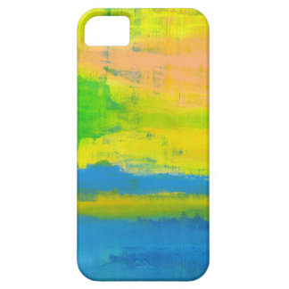Sunny Yellow Blue Nautical Abstract Art iPhone 5 Cover