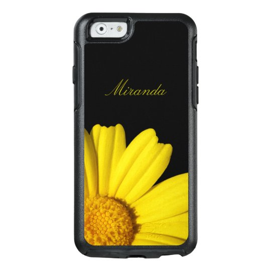 Sunny Yellow Chamomile - Personalized with Name - OtterBox iPhone 6/6s Case
