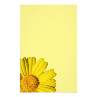 Sunny yellow chamomile stationery